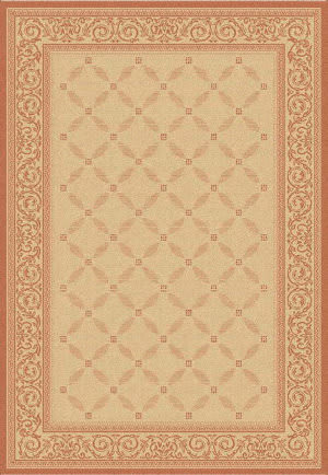 Safavieh Courtyard Cy1502-3201 Natural / Terracotta Area Rug