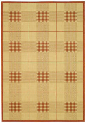 Safavieh Courtyard Cy1587-3201 Natural / Terracotta Area Rug