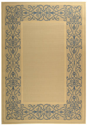 Safavieh Courtyard Cy1588-3101 Natural / Blue Area Rug