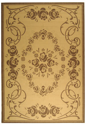 Safavieh Courtyard Cy1893-3001 Natural / Brown Area Rug