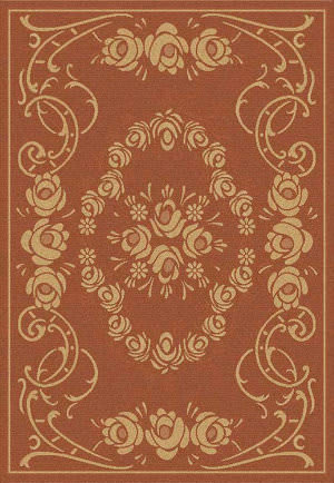 Safavieh Courtyard Cy1893-3202 Terracotta / Natural Area Rug