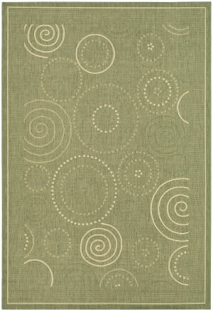 Safavieh Courtyard Cy1906-1e06 Olive / Natural Area Rug