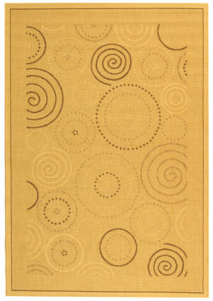 Safavieh Courtyard Cy1906-3001 Natural / Brown Area Rug