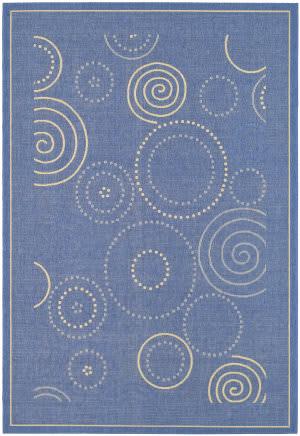 Safavieh Courtyard Cy1906-3103 Blue / Natural Area Rug