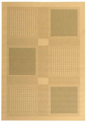 Safavieh Courtyard Cy1928-1e01 Natural / Olive Area Rug