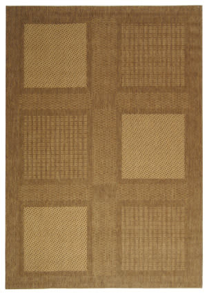 Safavieh Courtyard Cy1928-3009 Brown / Natural Area Rug