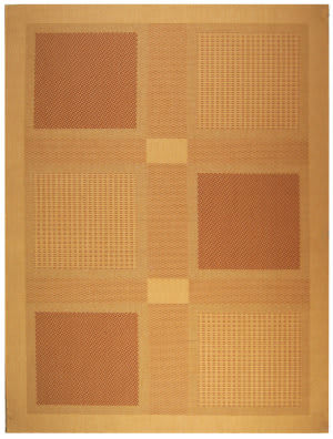 Safavieh Courtyard Cy1928-3201 Natural / Terracotta Area Rug