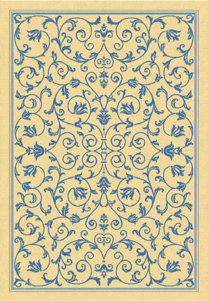 Safavieh Courtyard Cy2098-3101 Natural / Blue Area Rug