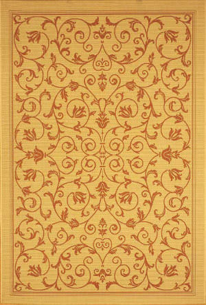 Safavieh Courtyard Cy2098-3201 Natural / Terracotta Area Rug