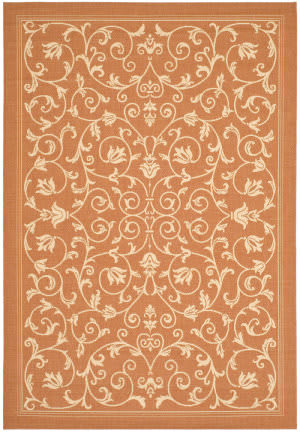 Safavieh Courtyard Cy2098-3202 Terracotta / Natural Area Rug