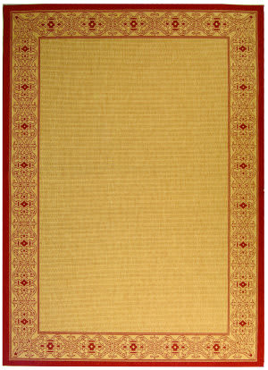 Safavieh Courtyard Cy2099-3701 Beige / Red Area Rug