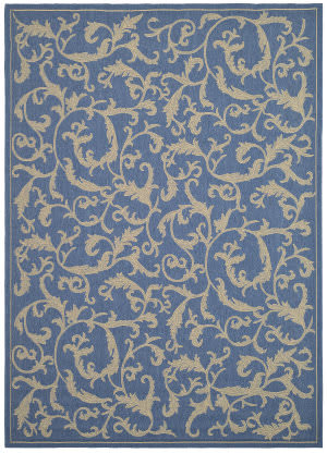 Safavieh Courtyard Cy2653-3103 Blue / Natural Area Rug
