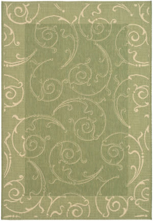 Safavieh Courtyard Cy2665-1e06 Olive / Natural Area Rug
