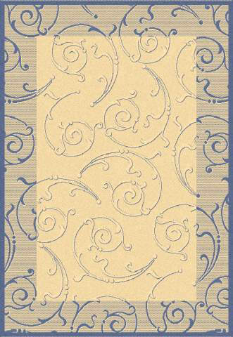 Safavieh Courtyard Cy2665-3101 Natural / Blue Area Rug