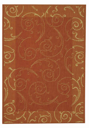 Safavieh Courtyard Cy2665-3202 Terracotta / Natural Area Rug