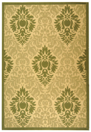 Safavieh Courtyard Cy2714-1e01 Natural / Olive Area Rug