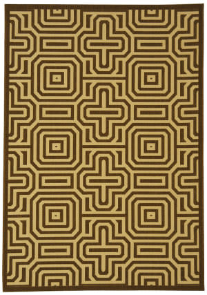 Safavieh Courtyard Cy2962-3409 Chocolate / Natural Area Rug