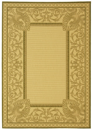 Safavieh Courtyard Cy2965-1e01 Natural / Olive Area Rug