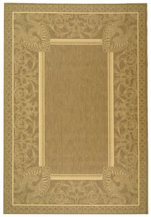 Safavieh Courtyard Cy2965-3009 Brown / Natural Area Rug