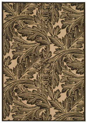 Safavieh Courtyard Cy2996-3401 Natural / Chocolate Area Rug