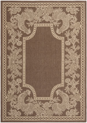 Safavieh Courtyard Cy3305-3409 Chocolate / Natural Area Rug