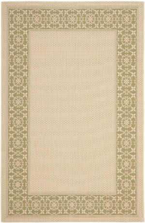 Safavieh Courtyard Cy6003-14 Cream / Green Area Rug