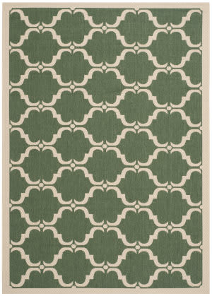 Safavieh Courtyard Cy6009-332 Dark Green / Beige Area Rug