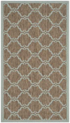 Safavieh Courtyard Cy6009-337 Brown / Aqua Area Rug