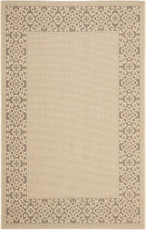 Safavieh Courtyard Cy6011-219 Cream / Light Chocolate Area Rug