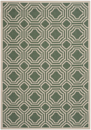 Safavieh Courtyard Cy6112 Dark Green - Beige Area Rug