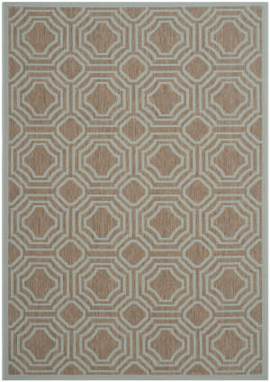 Safavieh Courtyard Cy6112 Brown - Aqua Area Rug