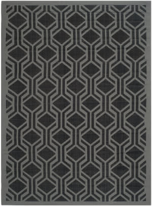 Safavieh Courtyard Cy6114-225 Black / Anthracite Area Rug