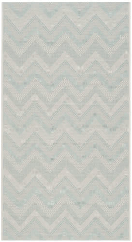 Safavieh Courtyard Cy6155 Light Grey - Aqua Area Rug