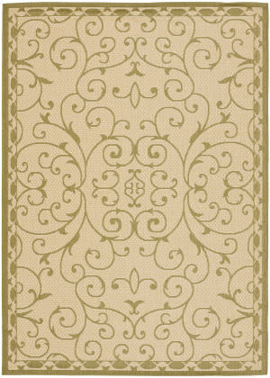 Safavieh Courtyard Cy6888-14 Cream / Green Area Rug