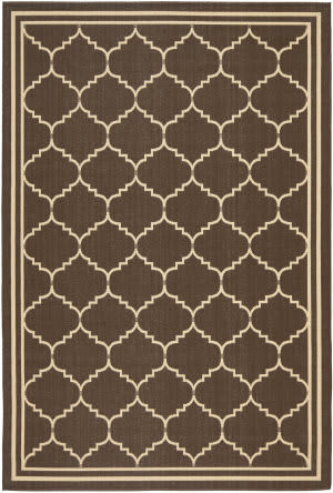 Safavieh Courtyard Cy6889-204 Chocolate / Cream Area Rug