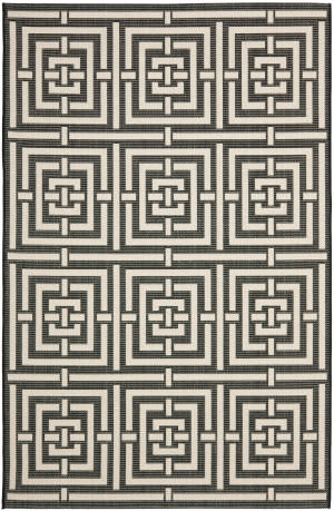 Safavieh Courtyard Cy6937-26 Black / Bone Area Rug
