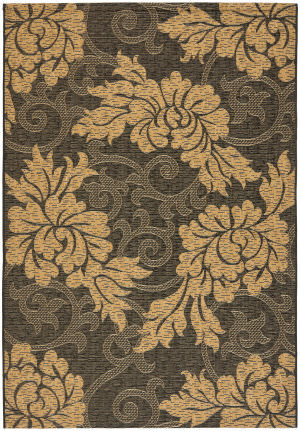 Safavieh Courtyard Cy6957-46 Black / Natural Area Rug