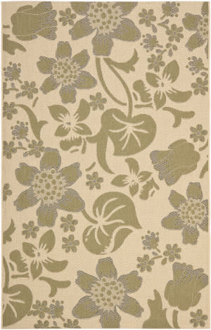 Safavieh Courtyard Cy7014-14a5 Cream / Green Area Rug