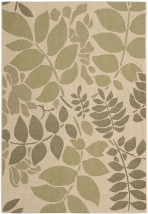 Safavieh Courtyard Cy7015-14a7 Cream / Green Area Rug