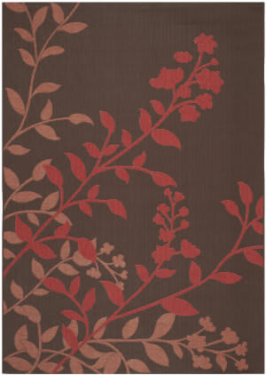 Safavieh Courtyard Cy7019-303 Chocolate / Red Area Rug