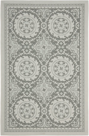 Safavieh Courtyard Cy7059 Light Grey - Anthracite Area Rug