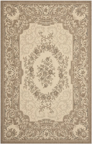 Safavieh Courtyard Cy7208-12a5 Creme / Brown Area Rug