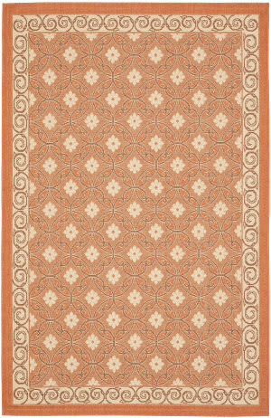 Safavieh Courtyard Cy7810-21a7 Terracotta / Cream Area Rug