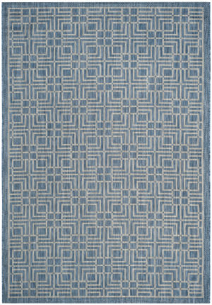Safavieh Courtyard Cy8467 Navy - Grey Area Rug