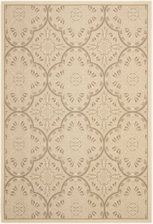 Safavieh Courtyard Cys6204 Cream - Light Chocolate Area Rug