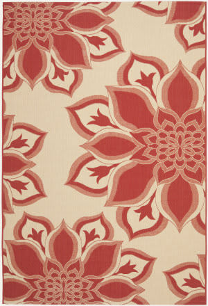 Safavieh Courtyard Cys7232 Creme - Red Area Rug