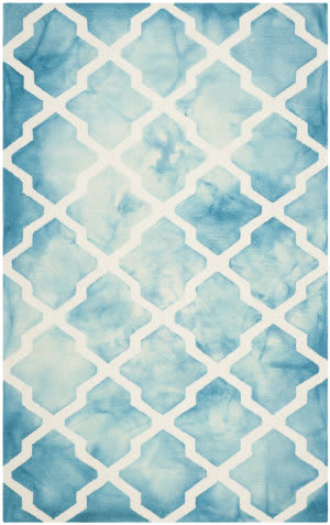 Safavieh Dip Dye Ddy540d Turquoise - Ivory Area Rug