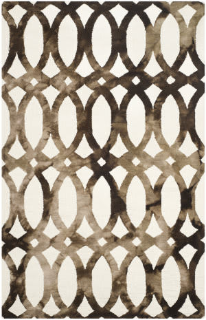 Safavieh Dip Dyed Ddy675e Ivory - Chocolate Area Rug