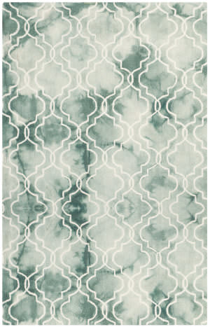 Safavieh Dip Dyed Ddy676q Green - Ivory Area Rug