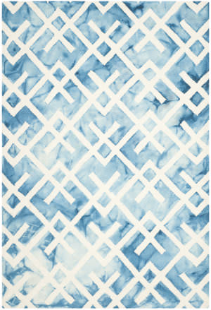 Safavieh Dip Dyed Ddy677g Blue - Ivory Area Rug